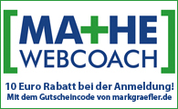 Banner Mathe-Webcoach.de Gutscheincode